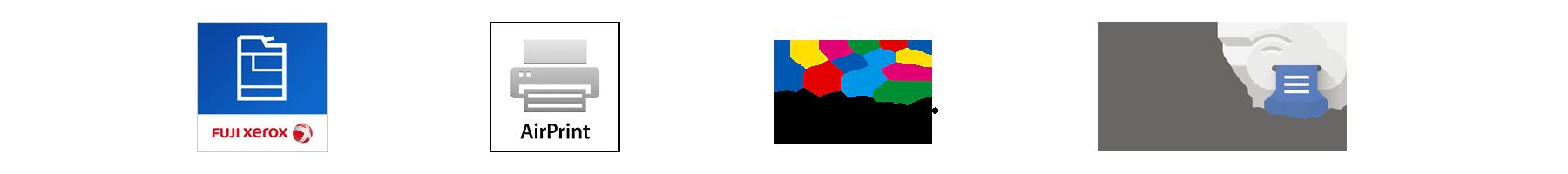 Print Utility / AirPrint / Google Cloud Print / Mopria Print Service Logo
