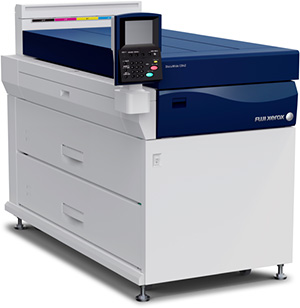 Unlike The Moving Head Method Often Employed In Inkjet Printers Fuji Xerox Has Aligned High Definition Four Color CMYK Print Heads That Spray Inks