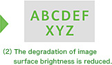 (2) The degradation of image surface brightness is reduced.